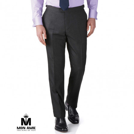 Men Regular Trouser in Dark Grey